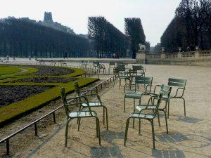 Chaises des jardins du Luxembourg © Chiara Santini
