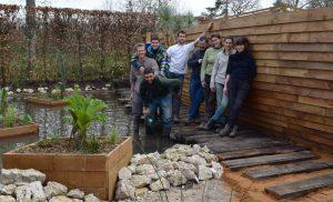 Les participants à la réalisation de l'Arche © D.R