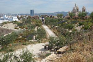 Le jardin des Migrations du fort Saint-Jean à Marseille, Victoire d'or pour la catégorie « Parc ou jardin urbain » en 2014 - © Agence APS