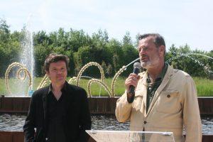 Louis Benech (à droite) et Jean-Michel Othoniel, les deux artistes du Bosquet du théâtre d'eau - © J.-F. Coffin