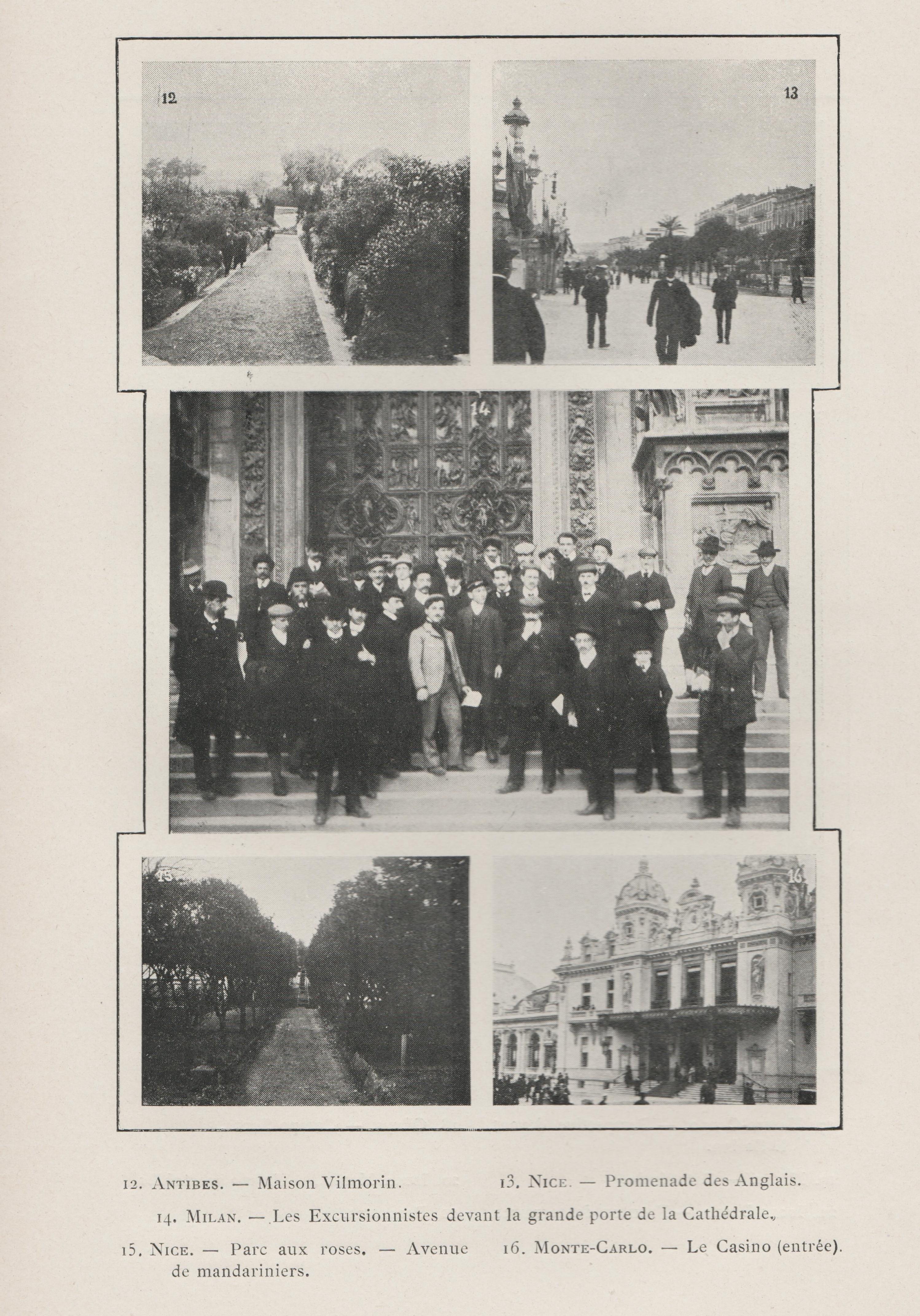 En haut à gauche, l'Etablissement Vimorin-Andrieux à Empel en 1908, photos de S. MOTTET (2)