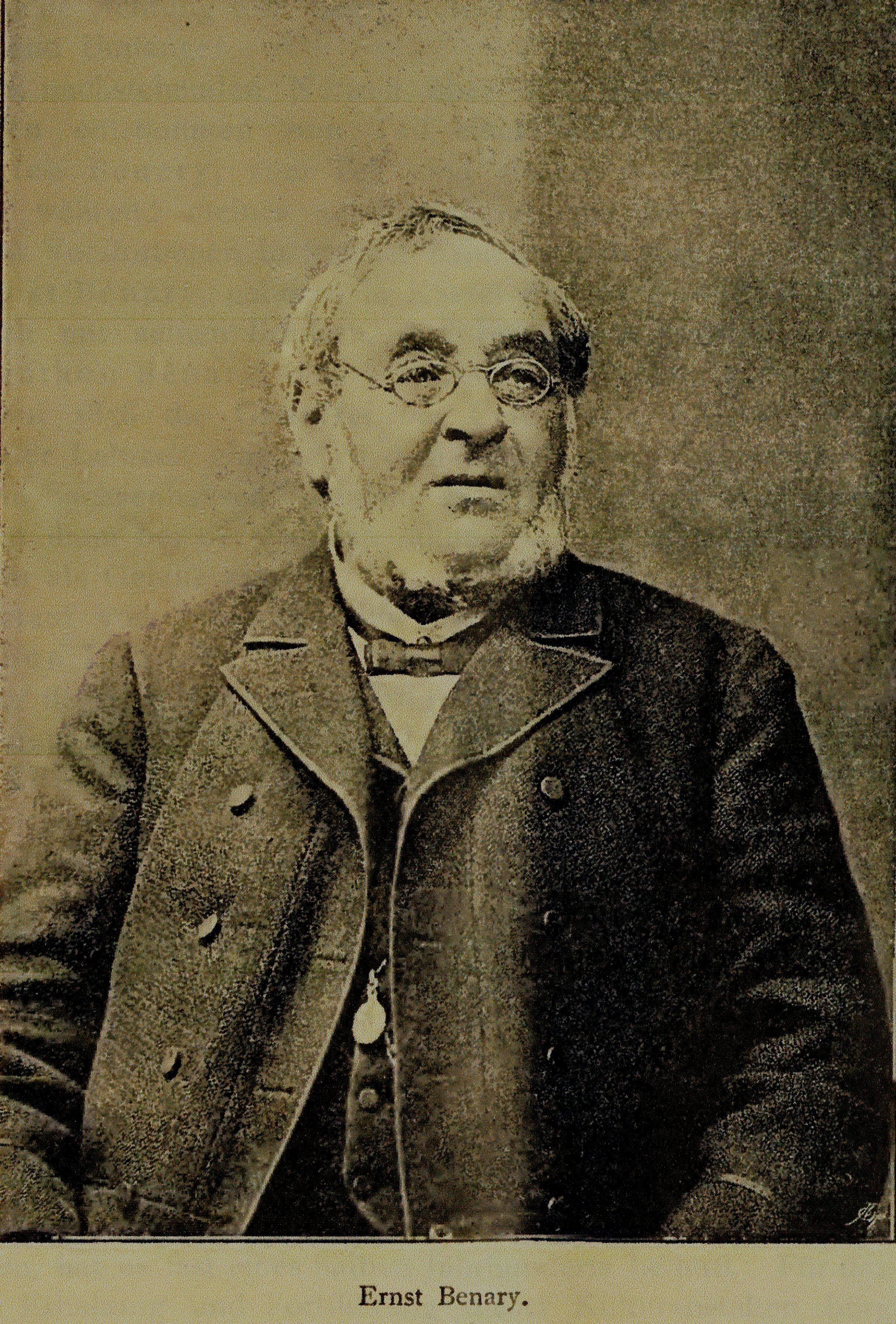 Le fondateur Ernst Benary (photo de 1893) - © D.R.