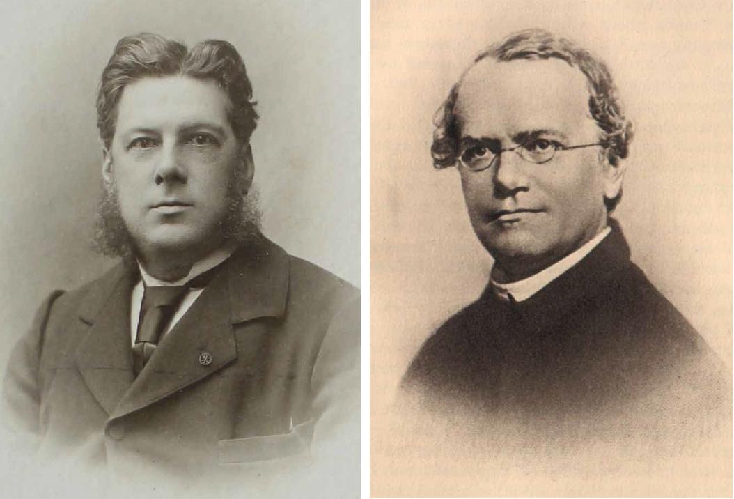 Henry de Vilmorin (à gauche) et Gregor Mendel : des réflexions parallèles sur l'hérédité - © D.R.