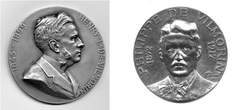 à droite Philippe de Vilmorin (1812 – 1917), à gauche Henry de Vilmorin (1843-1899), agronome, chercheur et botaniste ; effectue des recherches sur l'amélioration des blés - © D.R.