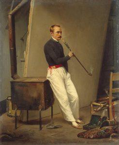 Autoportrait à la chibouque - Horace Vernet, 1835 - Saint-Pétersbourg, musée de l'Hermitage - © D.R
