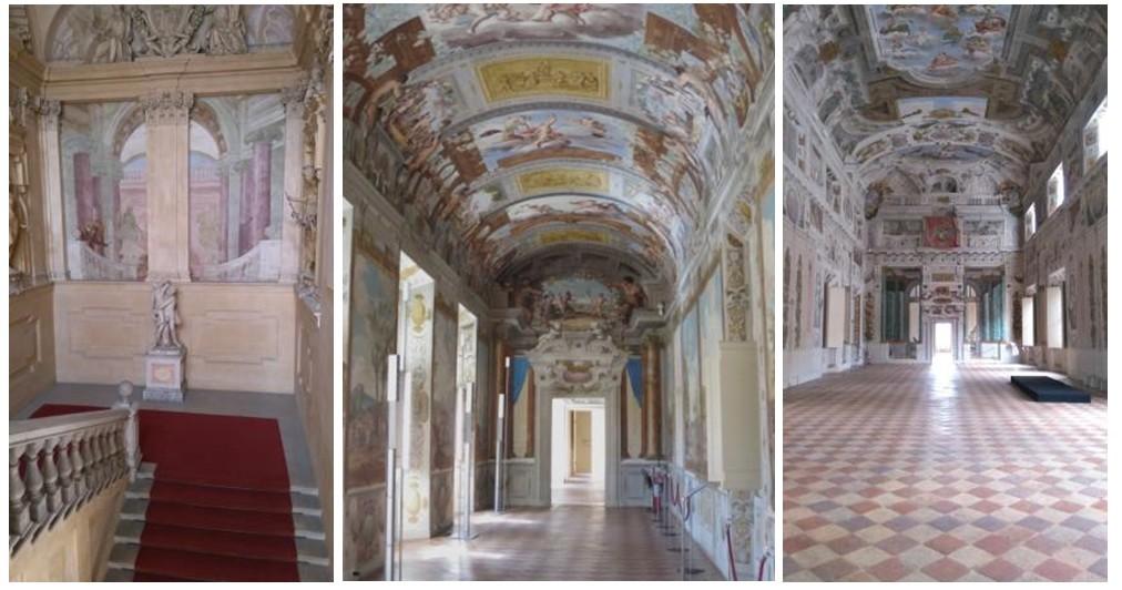 L'escalier d'honneur (à gauche), la galerie de Bacchus et le salon d'honneur - © Federico Ferrari