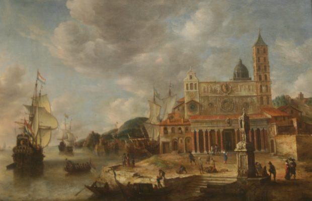 De nombreux ports, comme Venise, doivent leur fortune grâce au commerce des épices. Ici, une vue imaginaire d'un port peinte par Johannes Beerstraten en 1662 – Musée du Louvre Paris - © J.-F. Coffin