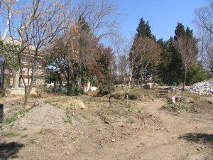 Travaux de restauration du jardin de l'harmas