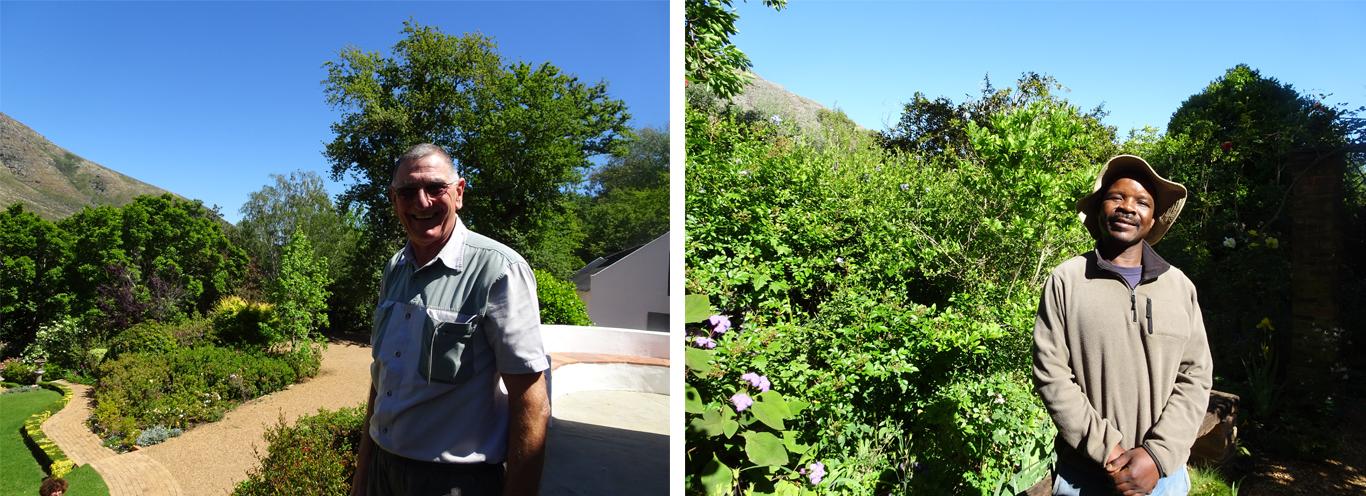 Peter van der Spuy, le fils d'Una, assure la pérennité du domaine aidé par le jardinier Richard et quatre ouvriers - © J.-F. Coffin