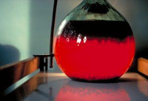 Les pectines, un rôle de gélifiant. Ici, clarification des jus de pommes par coagulation enzymatique des pectines - © J.-F. Drilleau- INRA Rennes