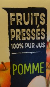 La mention «Pur jus» signifie que les jus de fruits concernés n'ont subi ni concentration ni dilution et ne contiennent aucun additif - © J.-F. Coffin