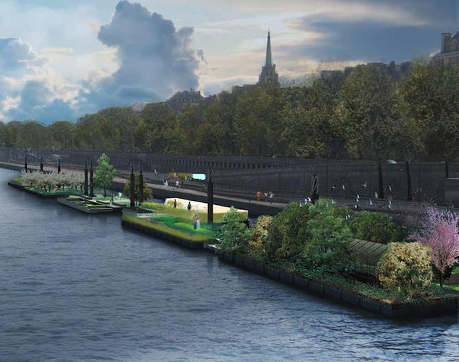 Un jardin flottant sur la seine jardins de france - Restaurant seine port ...